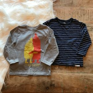 Baby Gap Long Sleeve T Bundle Stripes & Hugs 2T